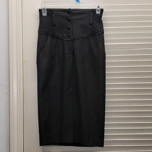 Bebe black skirt with 4 buttons